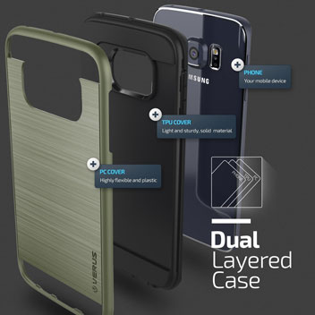 Verus Verge Series Samsung Galaxy S6 Edge Case - Military Green