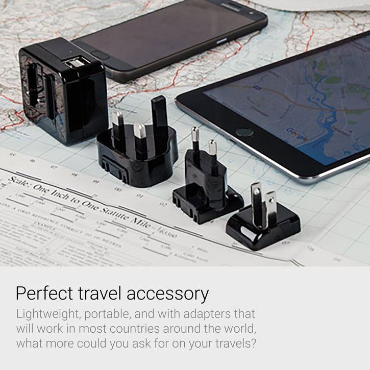Kensington AbsolutePower 4.2 Amp Dual USB World Charging Adapter
