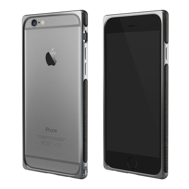 Adopted Frame Aluminium Leather iPhone 6S Plus / 6 Plus Bumper Case - Brown