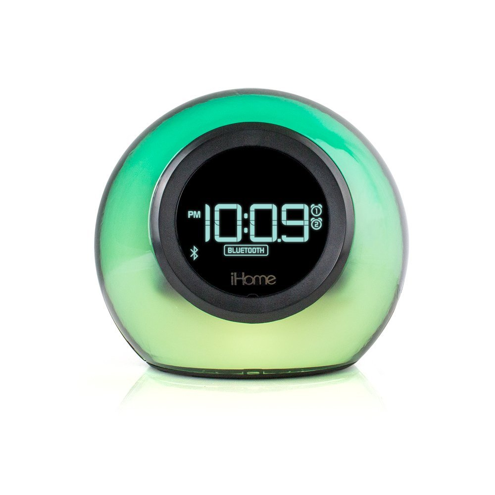 ihome ibt29 colour changing fm clock radio with bluetooth. Black Bedroom Furniture Sets. Home Design Ideas