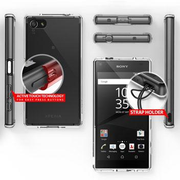 Rearth Ringke Fusion Sony Xperia Z5 Compact Case - Smoke Black
