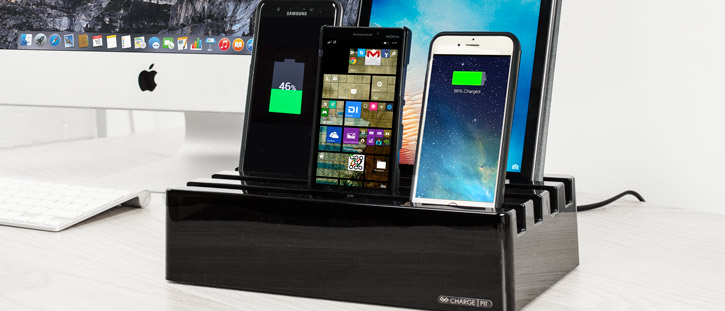 Charge Pit 6-Port Universal Charging Station - Piano Black