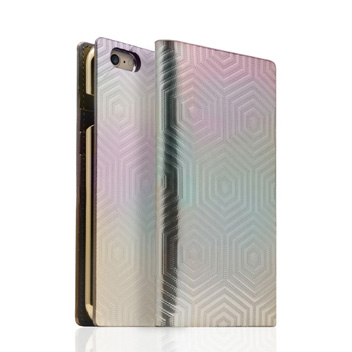 SLG Metal Edition iPhone 6S / 6 Leather Wallet Case - White