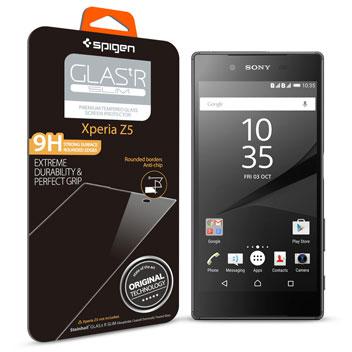 Spigen GLAS.tR SLIM Sony Xperia Z5 Tempered Glass Screen Protector