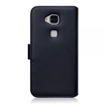 Olixar Premium Real Leather Huawei G8 Wallet Case - Black