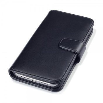 Olixar Premium Real Leather Huawei G8 Wallet Case - Black
