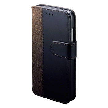 Olixar Executive Huawei G8 Wallet Case with Stand - Black / Tan