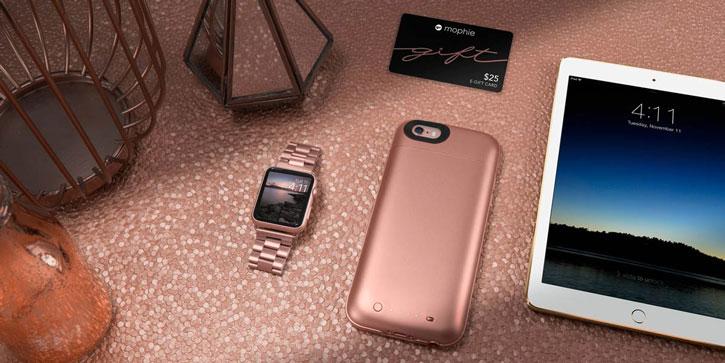 online retailer 7ba91 ba049 Mophie MFi iPhone 6S / 6 Juice Pack Air Battery Case - Rose Gold