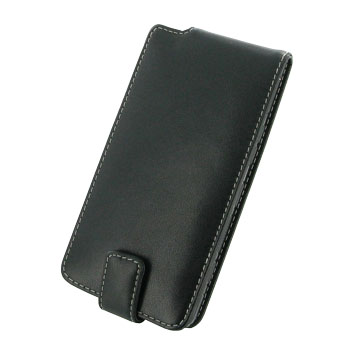 PDair Deluxe Leather Lumia 950 Flip Case - Black