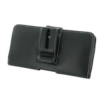 PDairHorizontal Leather Lumia 950 Pouch Case - Black
