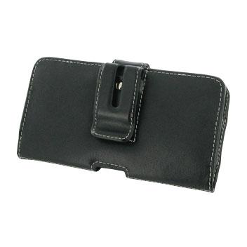 PDair Horizontal Leather Lumia 950 XL Pouch Case - Black