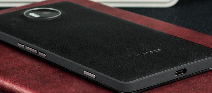 mozo 950  Mozo Microsoft Lumia 950 XL Wireless Charging Back Cover - Black Rim