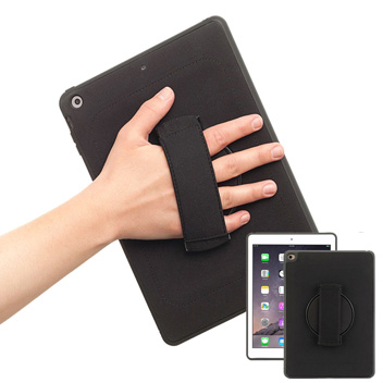 Griffin iPad Mini4 AirStrap 360 Full Rotation Case  - Black