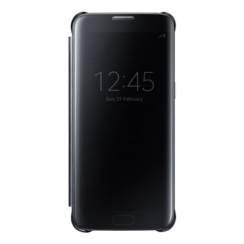 Clear View Cover Officielle Samsung Galaxy S7 Edge – Noire