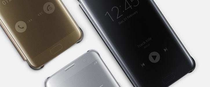 f521b9b5fa9 Official Samsung Galaxy S7 Edge Clear View Cover Case - Black ...