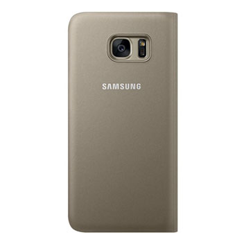 Official Samsung Galaxy S7 Edge Flip Wallet Cover - Gold