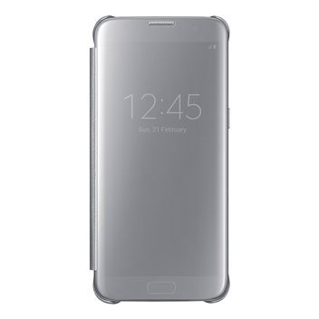 Official Samsung Galaxy S7 Edge Clear View Cover Case - Silver