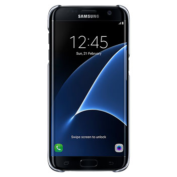 Clear Cover Officielle Samsung Galaxy S7 Edge - Noire