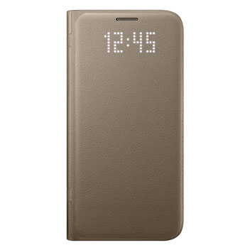 Official Samsung Galaxy S7 LED Flip Wallet Cover - Gold