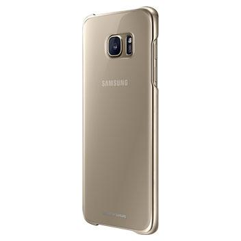 Clear Cover Officielle Samsung Galaxy S7 Edge - Or vue de 3/4