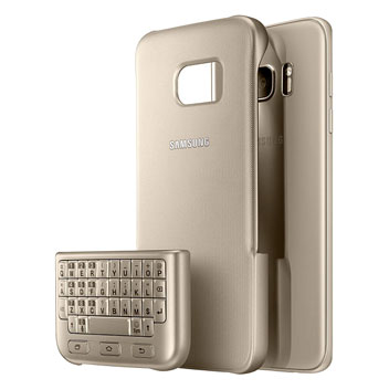 Official Samsung Galaxy S7 Edge QWERTY Keyboard Cover - Gold