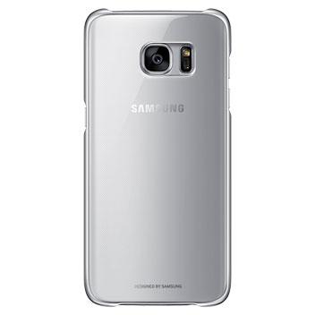 Funda Official Samsung Galaxy S7 Edge Clear Cover - Plata