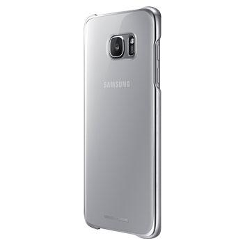 Clear Cover Officielle Samsung Galaxy S7 Edge - Argent vue de 3/4