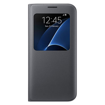 Official Samsung Galaxy S7 Edge S View Cover Case - Black