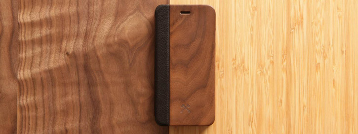 Woodcessories EcoFlip Comfort Wooden iPhone 6S/ 6 Case - Walnut