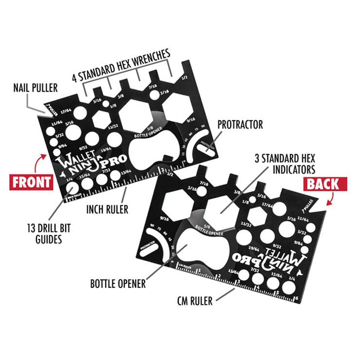 Wallet Ninja Pro 26-in-1 Multi-tool