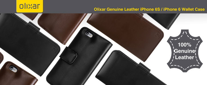 Olixar Genuine Leather Samsung Galaxy S7 Wallet Case - Black