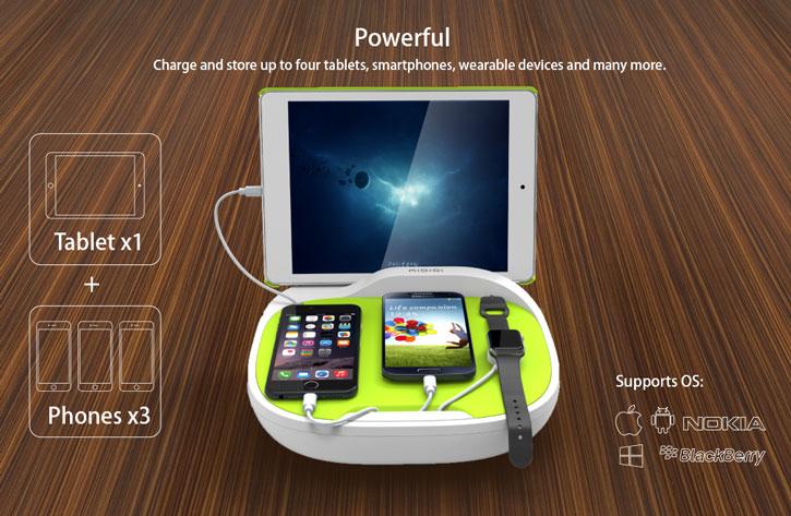 Kidigi Hank Family Universal USB Charging Station - Black