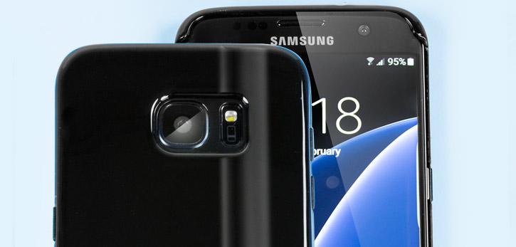 FlexiShield Samsung Galaxy S7 Edge Gel Case - Solid Black