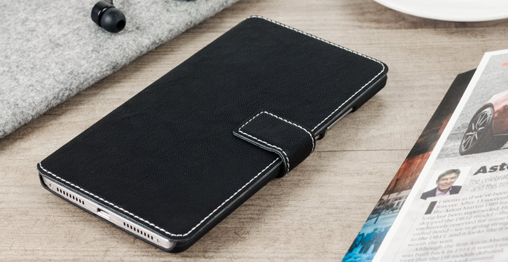 Olixar Low Profile Huawei Mate 8 Wallet Case - Black