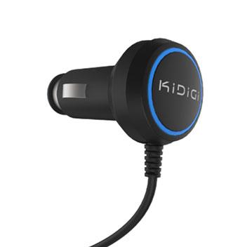 Kidigi USB-C Car Charger for Smartphones and Tablets - Black