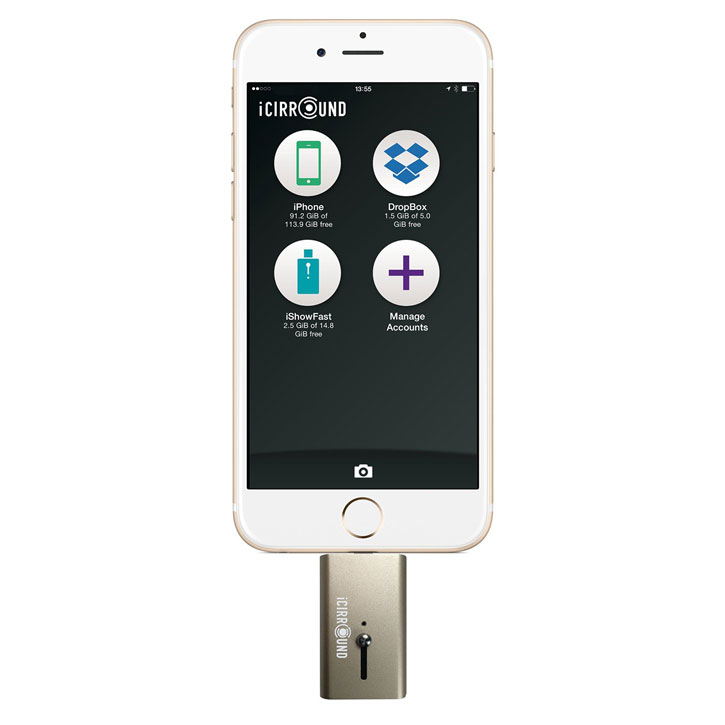 iShowFast 64GB Mobile Storage Drive for iOS Devices - Gold