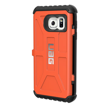 UAG Samsung Galaxy S7 Protective Card Case - Rust - Black