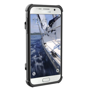 UAG Samsung Galaxy S7 Protective Card Case - White - Black
