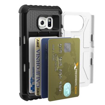 UAG Samsung Galaxy S7 Protective Card Case - White - Black