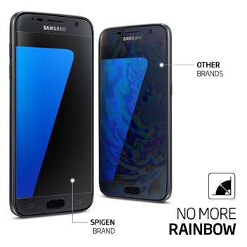 Spigen LCD Samsung Galaxy S7 Film Crystal Skärmskydd - Trepack