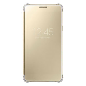 Official Samsung Galaxy A5 2016 Clear View Cover Case - Gold