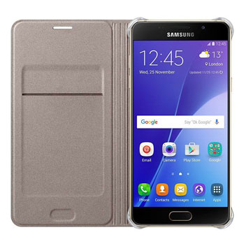 Official Samsung Galaxy A5 2016 Flip Wallet Cover - Gold