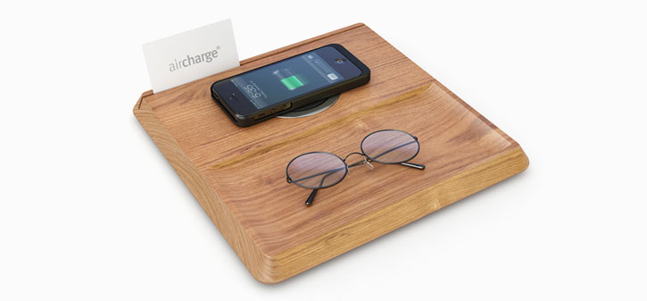 AirCharge Valet Tray Stand with Built-in Wireless Charging