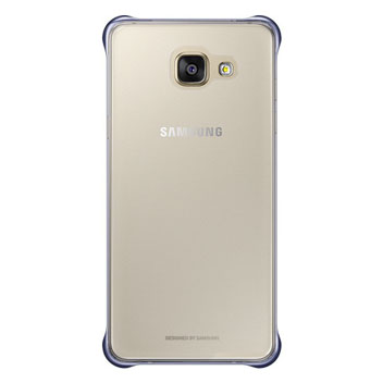 Official Samsung Galaxy A5 2016 Clear Cover Case - Blue / Black