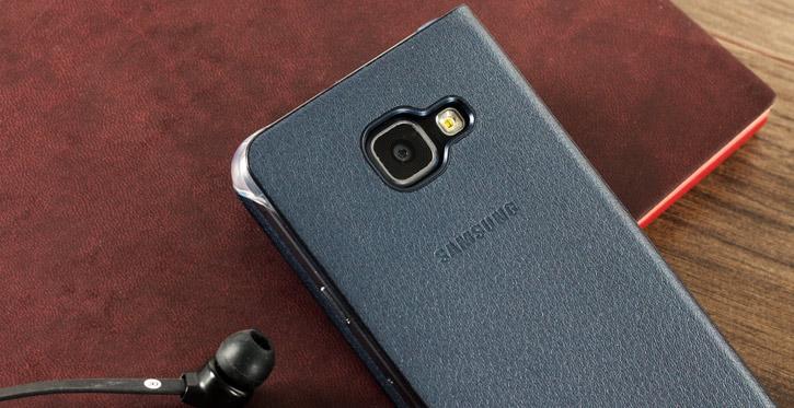 Official Samsung Galaxy A3 2016 Flip Wallet Cover - Sapphire