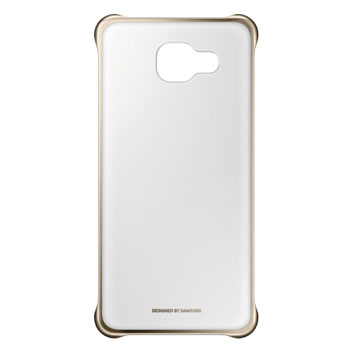 Official Samsung Galaxy A3 2016 Clear Cover Case - Gold