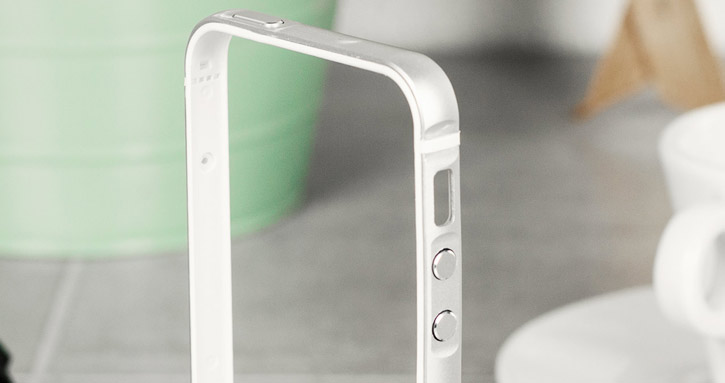 X-Doria Bump Gear Plus iPhone SE Aluminium Bumper Case - Silver