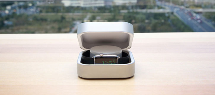 Amber Apple Watch Charging Case & USB Power Bank - 3800 mAh