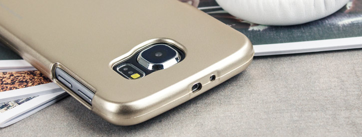 Mercury Metallic Silicone Finish Hard Case Samsung Galaxy S6 - Gold