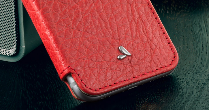 Vaja Slim Pelle iPhone 6S / 6 Premium Leather Book Flip Case - Red